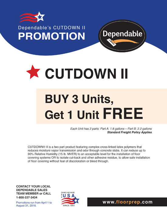 2016 Dependables Cutdown II Promotion